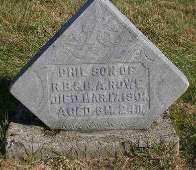 ROWE, PHILIP RIHELDAFFER - Madison County, Iowa | PHILIP RIHELDAFFER ROWE