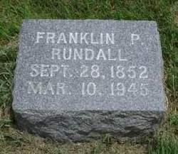RUNDALL, FRANKLIN P. 'FRANK' - Madison County, Iowa | FRANKLIN P. 'FRANK' RUNDALL