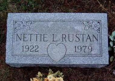 RUSTAN, NETTIE LEONA - Madison County, Iowa | NETTIE LEONA RUSTAN