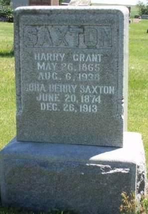 SAXTON, HARRY GRANT - Madison County, Iowa | HARRY GRANT SAXTON