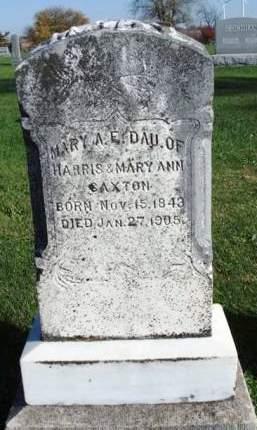 SAXTON, MARY ANN E. - Madison County, Iowa | MARY ANN E. SAXTON