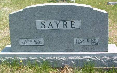 SAYRE, JENNIE AMANDA - Madison County, Iowa | JENNIE AMANDA SAYRE
