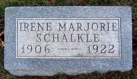SCHALKLE, IRENE MARJORIE - Madison County, Iowa | IRENE MARJORIE SCHALKLE