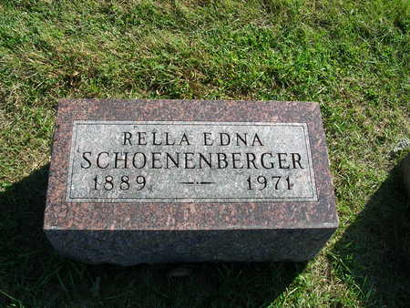 SCHOENENBERGER, RELLA EDNA - Madison County, Iowa | RELLA EDNA SCHOENENBERGER