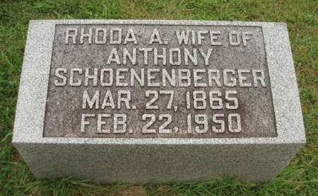 SCHOENENBERGER, RHODA ANN - Madison County, Iowa | RHODA ANN SCHOENENBERGER