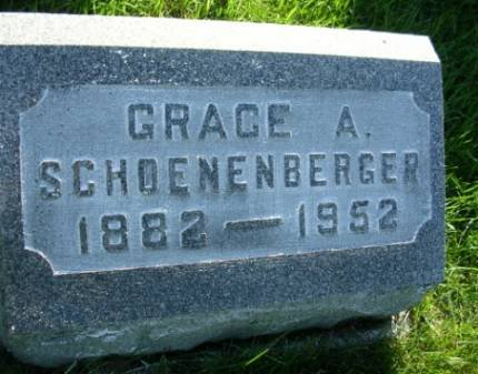 SCHOENENBERGER, GRACE ADELINE - Madison County, Iowa | GRACE ADELINE SCHOENENBERGER