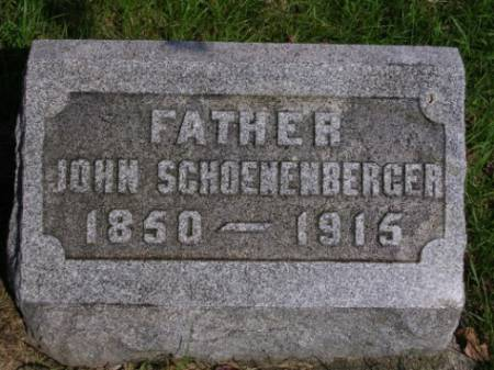 SCHOENENBERGER, JOHN - Madison County, Iowa | JOHN SCHOENENBERGER