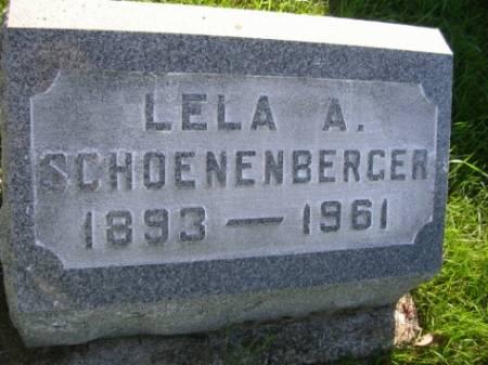 SCHOENENBERGER, LELA ALICE - Madison County, Iowa | LELA ALICE SCHOENENBERGER