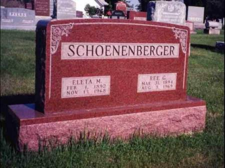 SCHOENENBERGER, REE GLENDON & ELECTA MARY (SILLIMAN) - Madison County, Iowa | REE GLENDON & ELECTA MARY (SILLIMAN) SCHOENENBERGER