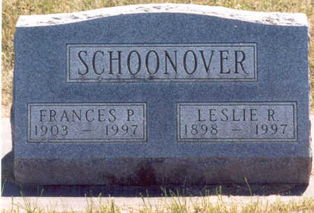 SCHOONOVER, FRANCES PAULINE - Madison County, Iowa | FRANCES PAULINE SCHOONOVER