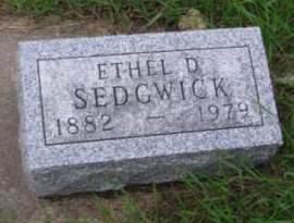 SEDGWICK, ETHEL D. - Madison County, Iowa | ETHEL D. SEDGWICK