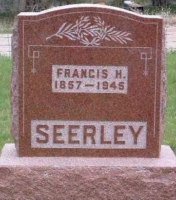 SEERLEY, FRANCIS HILERY - Madison County, Iowa   FRANCIS HILERY SEERLEY