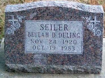 SEILER, BEULAH DESSAMOND - Madison County, Iowa   BEULAH DESSAMOND SEILER