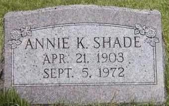 SHADE, ANNIE K. - Madison County, Iowa | ANNIE K. SHADE