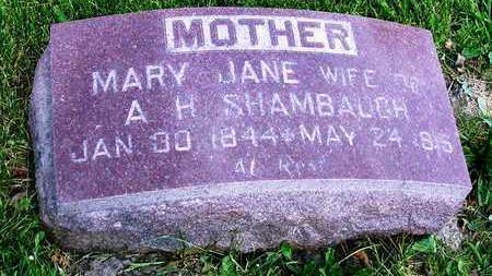 SHAMBAUGH, MARY JANE - Madison County, Iowa   MARY JANE SHAMBAUGH