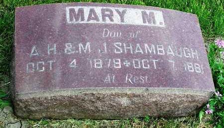 SHAMBAUGH, MARY M. - Madison County, Iowa   MARY M. SHAMBAUGH