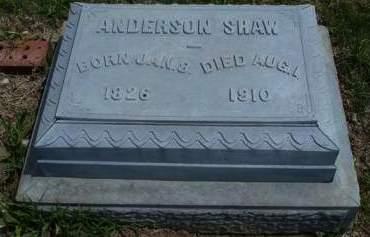 SHAW, ANDERSON - Madison County, Iowa   ANDERSON SHAW