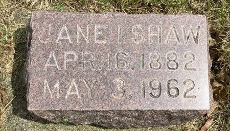 SHAW, JANE IZABELLE - Madison County, Iowa | JANE IZABELLE SHAW