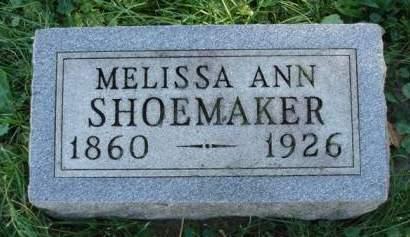 SHOEMAKER, MELISSA ANN - Madison County, Iowa | MELISSA ANN SHOEMAKER