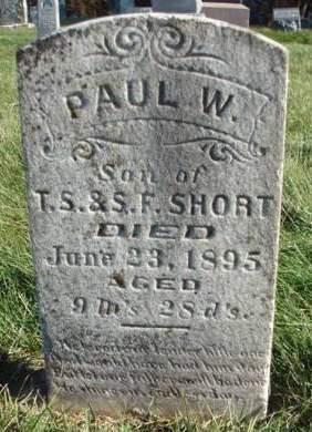SHORT, PAUL W. - Madison County, Iowa   PAUL W. SHORT