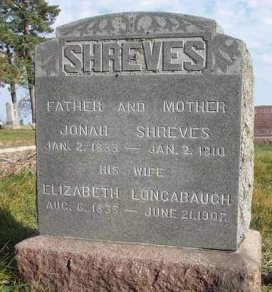SHREVES, ELIZABETH - Madison County, Iowa   ELIZABETH SHREVES