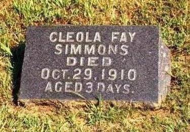 SIMMONS, CLEOLA FAY - Madison County, Iowa   CLEOLA FAY SIMMONS