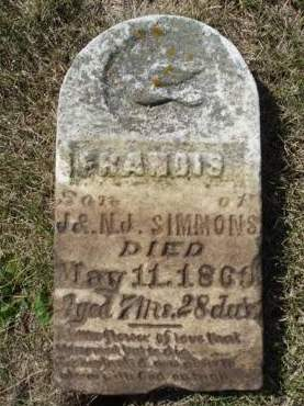 SIMMONS, FRANCIS - Madison County, Iowa | FRANCIS SIMMONS