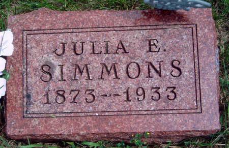 SIMMONS, JULIA ETTA - Madison County, Iowa | JULIA ETTA SIMMONS