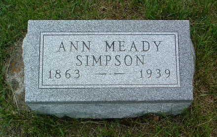 SIMPSON, ANN MEADY - Madison County, Iowa   ANN MEADY SIMPSON