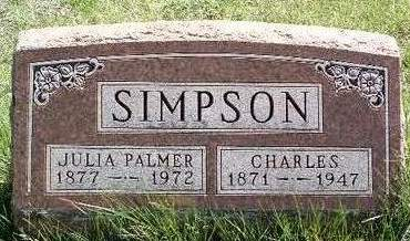 PALMER SIMPSON, JULIA BELLE - Madison County, Iowa | JULIA BELLE PALMER SIMPSON