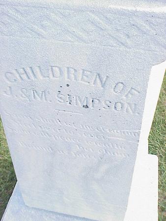 SIMPSON, CHILDREN - Madison County, Iowa | CHILDREN SIMPSON