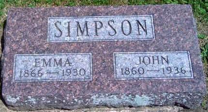 SIMPSON, MARTHA EMMA - Madison County, Iowa | MARTHA EMMA SIMPSON