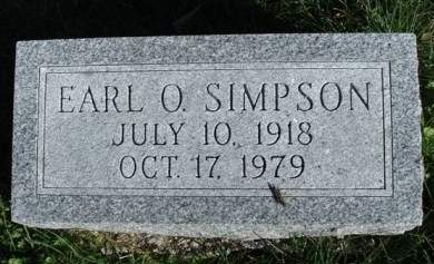 SIMPSON, EARL OMER - Madison County, Iowa   EARL OMER SIMPSON