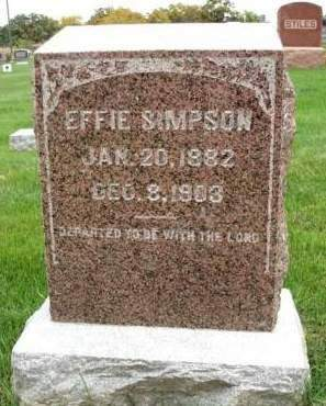 SIMPSON, EFFIE - Madison County, Iowa | EFFIE SIMPSON