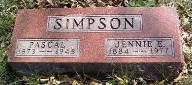 SIMPSON, JENNIE EMMA - Madison County, Iowa | JENNIE EMMA SIMPSON