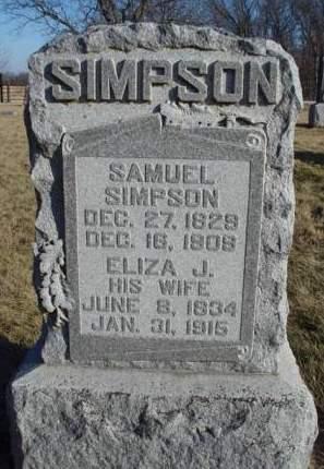 SIMPSON, ELIZA JANE - Madison County, Iowa | ELIZA JANE SIMPSON