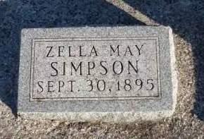 SIMPSON, ZELLA MAY - Madison County, Iowa | ZELLA MAY SIMPSON
