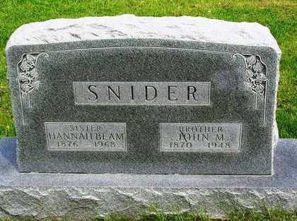 SNIDER, JOHN - Madison County, Iowa | JOHN SNIDER