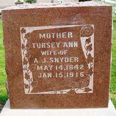 SNYDER, TURSEY ANN - Madison County, Iowa | TURSEY ANN SNYDER