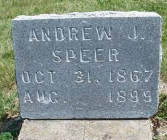 SPEER, ANDREW JACKSON - Madison County, Iowa | ANDREW JACKSON SPEER