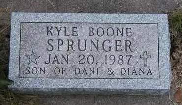 SPRUNGER, KYLE BOONE - Madison County, Iowa | KYLE BOONE SPRUNGER