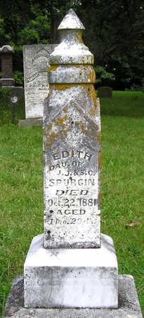 SPURGIN, EDITH - Madison County, Iowa   EDITH SPURGIN