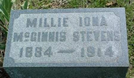 STEVENS, MILLIE IONE - Madison County, Iowa | MILLIE IONE STEVENS
