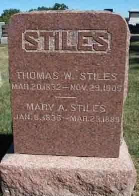 STILES, THOMAS WILLIAMSON - Madison County, Iowa | THOMAS WILLIAMSON STILES