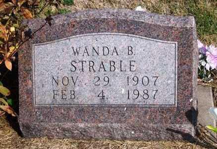STRABLE, WANDA BLANCHE - Madison County, Iowa   WANDA BLANCHE STRABLE