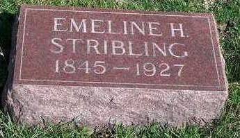 HORTON STRIBLING, EMELINE H. - Madison County, Iowa   EMELINE H. HORTON STRIBLING