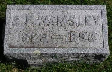 WAMSLEY, BENJAMIN F. - Madison County, Iowa | BENJAMIN F. WAMSLEY
