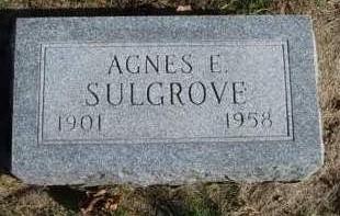 SULGROVE, AGNES ETHEL - Madison County, Iowa | AGNES ETHEL SULGROVE