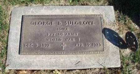 SULGROVE, GEORGE BENTLEY - Madison County, Iowa | GEORGE BENTLEY SULGROVE
