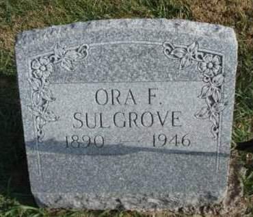 SULGROVE, ORA FRANCIS - Madison County, Iowa | ORA FRANCIS SULGROVE